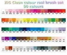 Zig Real Brush Color Chart Zig Kuretake Clean Colour Real Brush 90 Colour Set