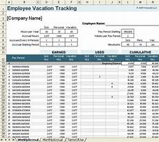 Vacation Tracking Spreadsheet Vacation Accrual And Tracking Template With Sick Leave Accrual
