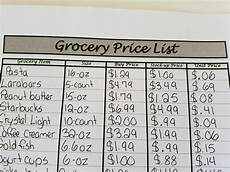 Make A Grocery List With Prices How To Use A Grocery Price List No Getting Off This Train