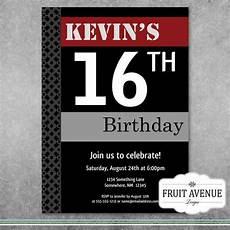 Teenage Birthday Invitation Templates Teenage Boy Birthday Party Invitation Printable