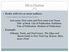 Works Cited Multiple Authors Mla Mla Citation Example Book