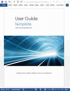 Ms Word User Manual Template User Guide Templates 5 X Ms Word Templates Forms