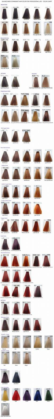 Davines Mask Colour Chart Davines Mask Color Chart Color Chart Colored Hair Tips
