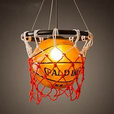 Sports Light Fixture Vintage Basketball Pendant Light Acrylic Ceiling Lamp