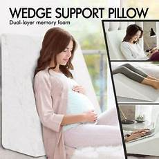 large bed wedge memory foam pillow with removable