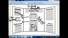 Tri Fold Poster Templates Trifold Board Tutorial Youtube
