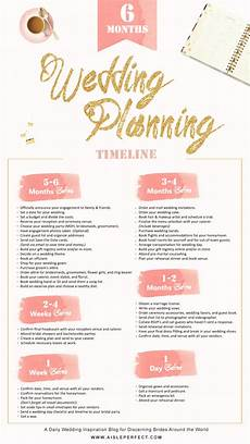 Wedding Plan Timeline Checklist 6 Month Wedding Planning Timeline Aisle Perfect