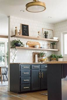 how i cut corners with the kitchen shelving bigger than