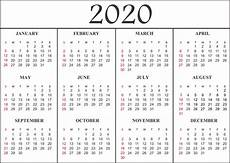 12 Months Calendar 2020 Printable 12 Month Calendar 2020 Printable January December Photo