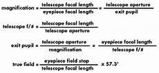Telescope Eyepiece Magnification Chart Tele Vue Optics Calculator