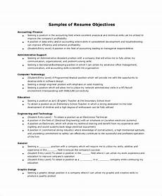 Administrative Assistant Objective Sample Free 6 Sample Resume Objective Templates In Ms Word Pdf