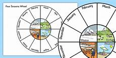 Season Wheel Chart Four Seasons Wheel Teacher Made