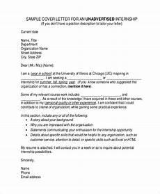 Cover Letter For Finance Internship Free 9 Sample Cover Letter For Internship In Ms Word Pdf