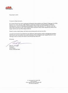 Letter Of Reference Example Reference Letter Sample Reference Letters Letters Of