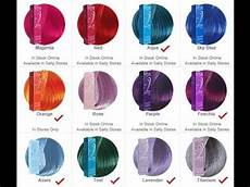 Ion Hair Color Chart Ion Semi Permanent Hair Color Review Youtube