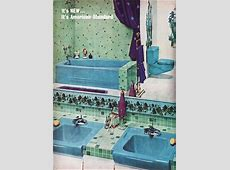 1960 Tiled Bathroom   American Standard in 2019   Mid century bathroom, Retro bathrooms, Vintage