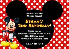 Custom Mickey Mouse Invitations Mickey Mouse Birthday Invitation
