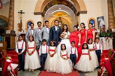 bridal entourage christmas theme bride and bridesmaids