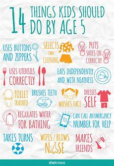 What Skills Do I Have 14 Things Kids Should Do By Age 5 Sheknows