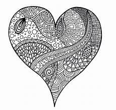 Ausmalbilder Erwachsene Herz Zentangle Vorlagen Zum Ausdrucken Gratis 40 Bilder Zum
