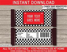 Free Hershey Candy Bar Wrapper Template Race Car Hershey Candy Bar Wrappers Personalized Candy Bars