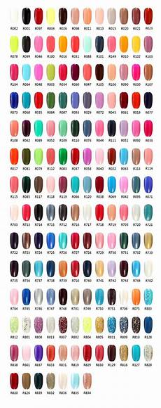 Color Gels Color Chart Gel Polish Colors Color Charts And Gel Polish On Pinterest
