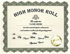 Honor Roll Certificate Templates Free Certificate Templates For High School