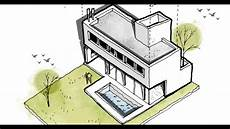 Architecture Design Drawing Techniques Architectural Drawing Color Photoshop Youtube