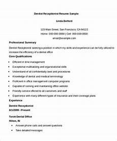 Receptionist Skills List Resumes 10 Receptionist Resume Templates Pdf Doc Free