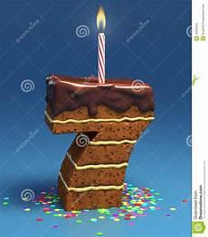 candela a forma di torta torta di compleanno a forma di di numero sette immagine
