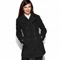 pea coats for kenneth cole reaction breasted wool blend pea coat