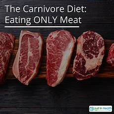 the carnivore diet only just in health