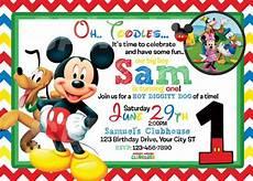 Mickey Mouse Birthday Invites Mickey Mouse 1st Birthday Invitations
