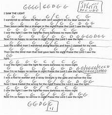 Bright Lights Chords I Saw The Light Hank Williams Guitar Chord Chart
