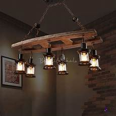 Rustic Light Fixtures Rustic Island Chandelier Iron And Wood 6 Heads Hanging