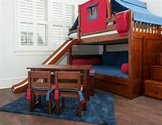 how and awesome bunk beds with swirly slide atzine