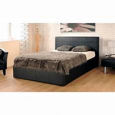 ezra faux leather ottoman storage bed on onbuy