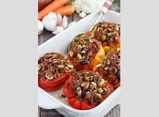 Italian Sausage & Cauliflower Rice Stuffed Peppers: Paleo