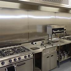 commercial kitchens silver metal fabricating - Commercial Kitchen Backsplash
