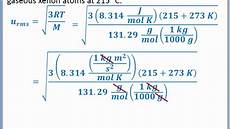 Root Mean Square Equation Chemistry 101 Root Mean Square Velocity Of Gas Molecules