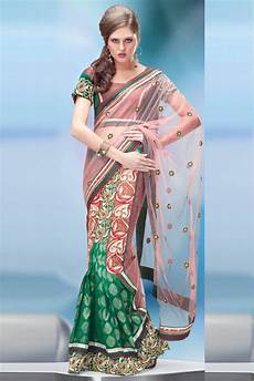 Light Green With Pink Saree Viscose And Net Lehenga Saree In Green And Light Pink Colour