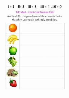 Food Tally Chart What Is Your Favourite Fruit Tally Charts Teaching