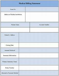 Billing Statement Form Medical Billing Statement Form Editable Forms