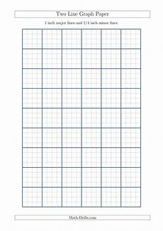 Free Printable Graph Paper 1 4 Inch Two Line Graph Paper With 1 Inch Major Lines And 1 4 Inch