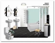 ensuite bathroom 3 bed show home den designery