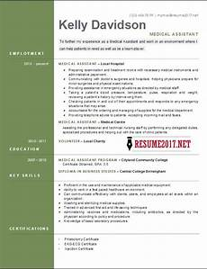 Medical Assistance Resume Top 6 Medical Assistant Resume Templates 2017