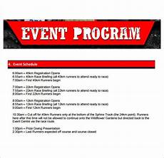Event Program Booklet Template Sample Event Program Template 11 Free Documents In Pdf