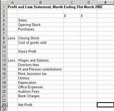 Example P L Statement Excel 3 Financial Statement Templates Word Excel Formats