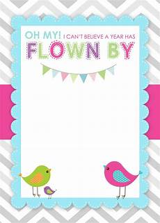 Free Printable Kids Birthday Invitations Bird Themed Birthday Party With Free Printables How To