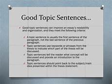 Examples Of Topic Sentences For An Essay Ppt Crafting Thesis Statements And Utilizing Topic